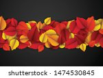 autumn horizontal banner with... | Shutterstock .eps vector #1474530845