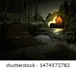 creepy forest landscape with...   Shutterstock .eps vector #1474572782