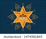 eid al adha mubarak islamic... | Shutterstock .eps vector #1474581845