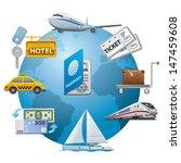 travel icon concept | Shutterstock .eps vector #147459608