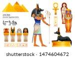 Ancient Egyptian God Anubis...