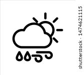 rain and wind in the day icon....