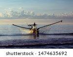 Vietnam Silhouette Of Fisherma...