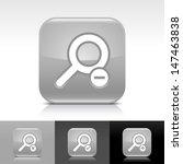 loupe icon set. gray color...
