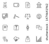 business and finance line icons ... | Shutterstock .eps vector #1474641962