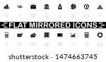 financical icons   black symbol ...