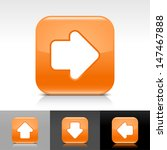 arrow icon set. orange color...