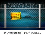 area 51 among the night canyon...   Shutterstock .eps vector #1474705682