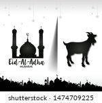 vector illustration. muslim... | Shutterstock .eps vector #1474709225