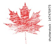 Red Maple Leaf In Abstract...