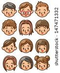 people face icon | Shutterstock . vector #147471332