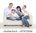 portrait of caucasian family of ... | Shutterstock . vector #147472646