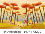 autumn landscape with road ... | Shutterstock .eps vector #1474773272