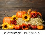 Fall Decoration Of Sunflowers ...