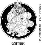 illustration of sagittarius... | Shutterstock .eps vector #1474794098