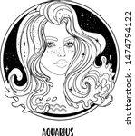 illustration of aquarius... | Shutterstock .eps vector #1474794122