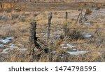 Winter Landscape Wooden Fencing ...