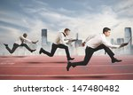 competition in business concept ... | Shutterstock . vector #147480482
