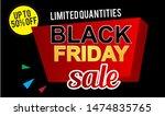 black friday sale banner design.... | Shutterstock .eps vector #1474835765