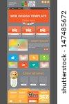 vector website template | Shutterstock .eps vector #147485672