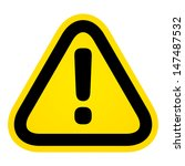 hazard warning attention sign | Shutterstock .eps vector #147487532