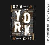 New York City Text Frame...