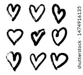 hand drawn heart collection.... | Shutterstock . vector #1474916135