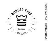 Vintage Burger King Logo   A...