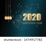 happy new year 2020 greeting... | Shutterstock .eps vector #1474917782
