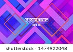 geometric background with... | Shutterstock .eps vector #1474922048