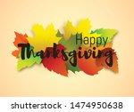 thanksgiving day banner  vector ... | Shutterstock .eps vector #1474950638
