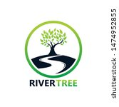river tree logo template design ... | Shutterstock .eps vector #1474952855