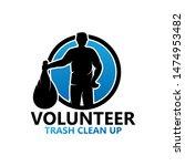 volunteer trash clean up logo... | Shutterstock .eps vector #1474953482