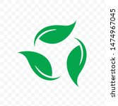 biodegradable recyclable... | Shutterstock .eps vector #1474967045