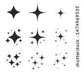 sparkling black and white... | Shutterstock .eps vector #1474969535