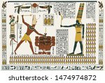 Egyptian Mural Painting...