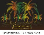 colorful coconut tree... | Shutterstock .eps vector #1475017145