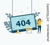 error 404 concept landing page. ...