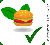 plant based meat with hamburger ...   Shutterstock .eps vector #1475026115