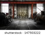 Old Industrial Metal Gate