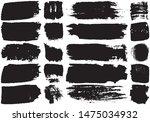 set of black brush strokes with ... | Shutterstock .eps vector #1475034932