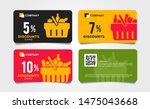 set of cards  vouchers for...   Shutterstock .eps vector #1475043668