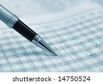 pen showing figures on... | Shutterstock . vector #14750524