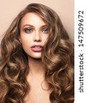 close up portrait of beautiful...   Shutterstock . vector #147509672