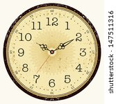 vector old vintage clock  ... | Shutterstock .eps vector #147511316