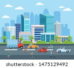 city transportation and... | Shutterstock .eps vector #1475129492