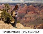 A Hiker In The Grand Canyon...