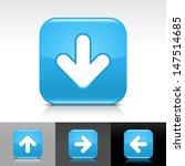 arrow download icon set. blue...