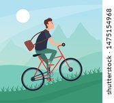 sport outdoor sportive bicycle... | Shutterstock .eps vector #1475154968
