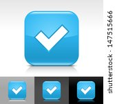 check mark icon. blue color...